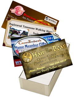 box of 1000 business cards for $99