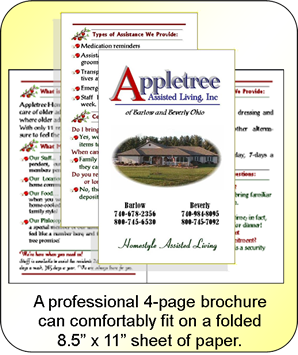 4-page brochures by CrossTimber