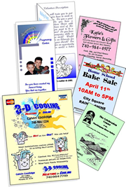 custom-printed brochures, flyers, posters & placemats